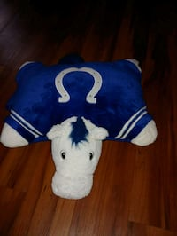 blue and white dog plush toy Anderson, 46016