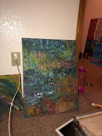 brown and green abstract painting 360 mi