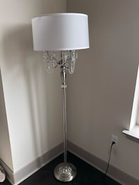 Crystal Silver Floor Lamp Mc Lean, 22102