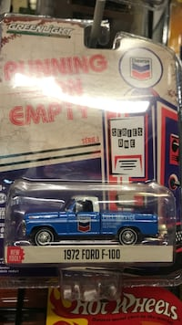 blue and white die-cast car Whittier, 90602