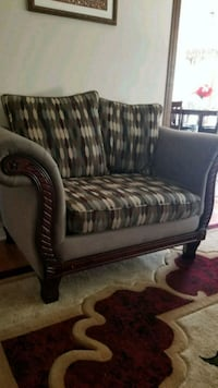 brown and gray fabric sofa chair Barrie, L4N 7J4