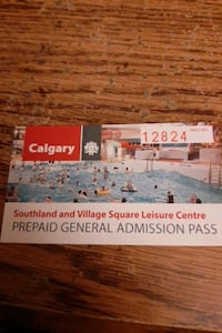 admission pass to calgary southland leisure  centr Calgary, T2H 3A1