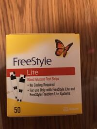 FreeStyle Lite Test Strips Box of 50 Inwood, 25428