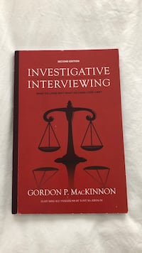 """""""Investigative interviewing"""" good condition, rarely used. Price is negotiable."""