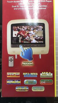Touch screen DVD player set NEW in box