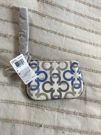 white and blue Coach wristlet West Caldwell, 07006