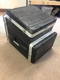 DJ case with Denon CD players