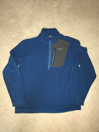 1/4 Zip Large NEW Polyester Pullover Blue - Eddie Bauer Firstascent  Wallingford, 06492