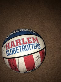white and blue Spalding basketball Breezy Point, 56472