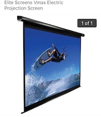 Elite Vmax Electric Priojection Screen with remote Stafford, 22554