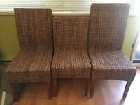 two brown fabric padded chairs Burnaby, V5A 2R3
