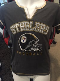 """NFL Pittsburgh Steelers ladies t shirt(Sz med.)(Glittery Look(""""Great Condition"""") East Cleveland, 44112"""