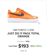 Air force 1 Just Do It size 12 Toronto, M1H
