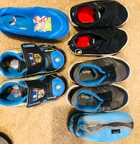 Toddler's assorted shoes