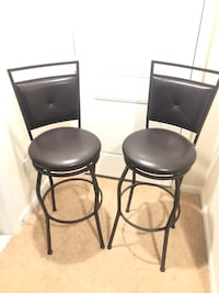 Metal Barstools with leather cushion and back Lorton, 22079