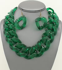 Acrylic Link Necklace Set 32 mi