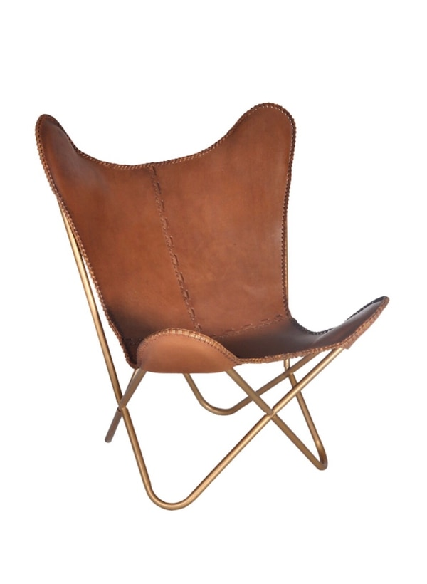 50% off Leather Butterfly Chair similar to listings on Wayfair