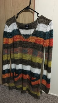 multicolored striped knit scoop-neck sweater Ceres, 95307