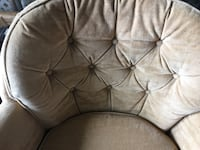 Gold beige fabric upholstered chair Aldie, 20105
