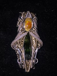Pure silver and gold wire wrap Baltimore, 21234