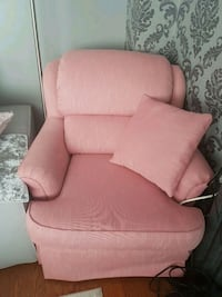 pink fabric sofa chair with ottoman Mississauga, L5M 8B1