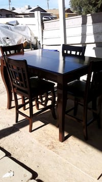 All Wood Dining Table w/ 4 Chairs