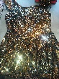 black and brown sequin sleeveless dress Morton, 39117
