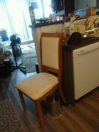 teak side chair needs recovering new condition Victoria, V9B 3K6