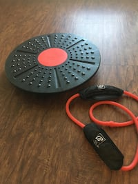Ballys Total Fitness Fit Tri Level  Balance Board + Resistance Band