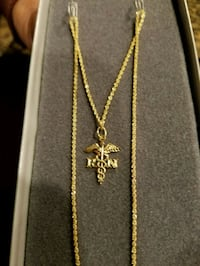 New 14K Gold RN Necklace  Burtonsville