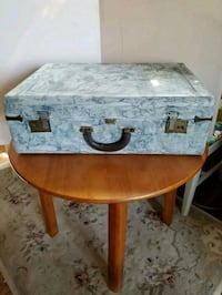 Vintage painted suitcase