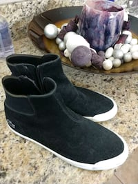 pair of black suede boots Mission Viejo, 92692