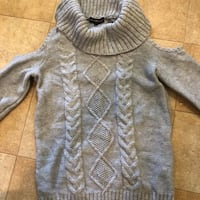 New w tags Almost famous brand heather grey sweater w cut out shoulders  Tacoma, 98418