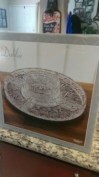 Crystal lazy Susan serving dish  Citrus Heights, 95621