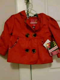 Baby girls red jacket