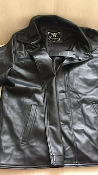 black leather button-up top Toronto, M4A
