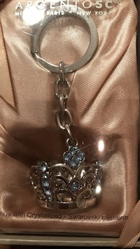 Gorgeous Silver Crown Key Chain made with Crystallized Swarovski Gainesville, 20155