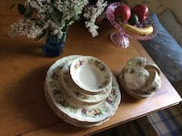 Set of vintage dishes with pansies - made in Canada Kitchener, N2M 1L5
