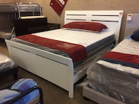 White Wood Cali King Bed Frame Only  Phoenix, 85018