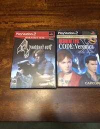 Resident Evil Code Veronica X & Resident Evil 4 for PS2 ($10 EACH) North Vancouver, V7P 1S3