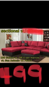 red and black sectional couch San Antonio, 78207