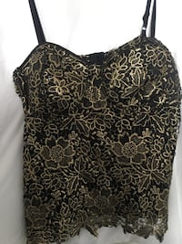 Plus Size • Torrid Embroidered Bustier • Black & Gold • Size 6 Fairfield, 94534