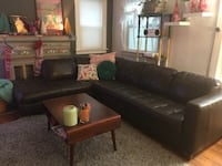 Leather sectional couch (macy's) 2322 mi
