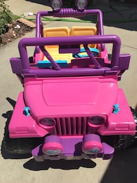 Barbie jeep power wheels ride on toy Beaumont