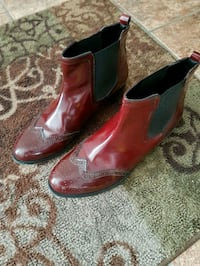 pair of maroon leather Chelsea boots for man Lethbridge, T1K 5M1