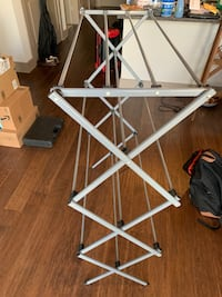 Gray folding three tier clothes laundry drying rack Beltsville, 20705