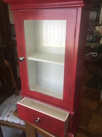 Red wooden framed glass cabinet Albuquerque, 87123