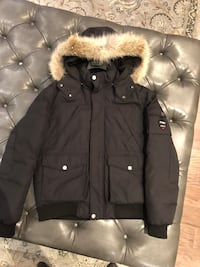 black and brown parka jacket King, L7B 1J2
