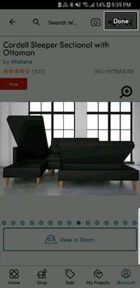 Cordell sleeper sectional sofa with storage Lantzville, V0R 2H0