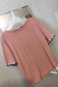 Pink ruffled top!